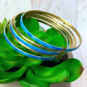 Pretty Blue Attached Bangles